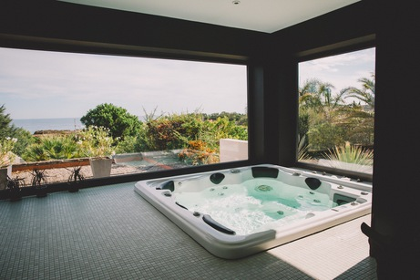 jacuzzi hotel vue mer argeles sur mer
